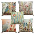 Set of 5 Bird Print Cushion Covers
